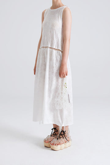 Bubble Embroidered Cotton Dress