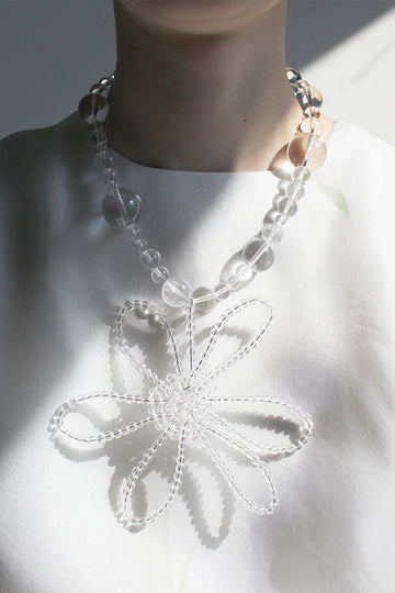 BUBBLE FLOWER DROP NECKLACE