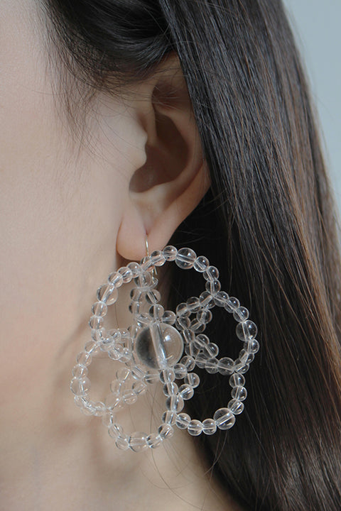 BUBBLE FLOWER EARRING