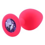 plug anal silicone diamant violet