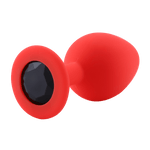 Plug anal en silicone rouge diamant