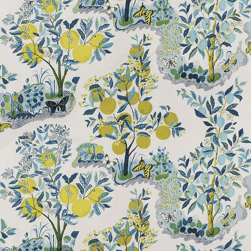 Schumacher Citrus Garden Pool Fabric Lilly and Co