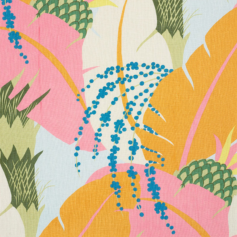 Schumacher Ananas Tropical Fabric