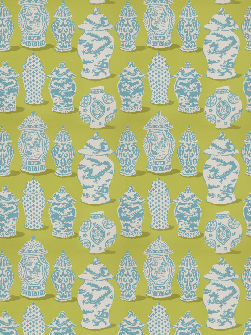 Clarke and Clarke Pagoda Apple Denim Fabric