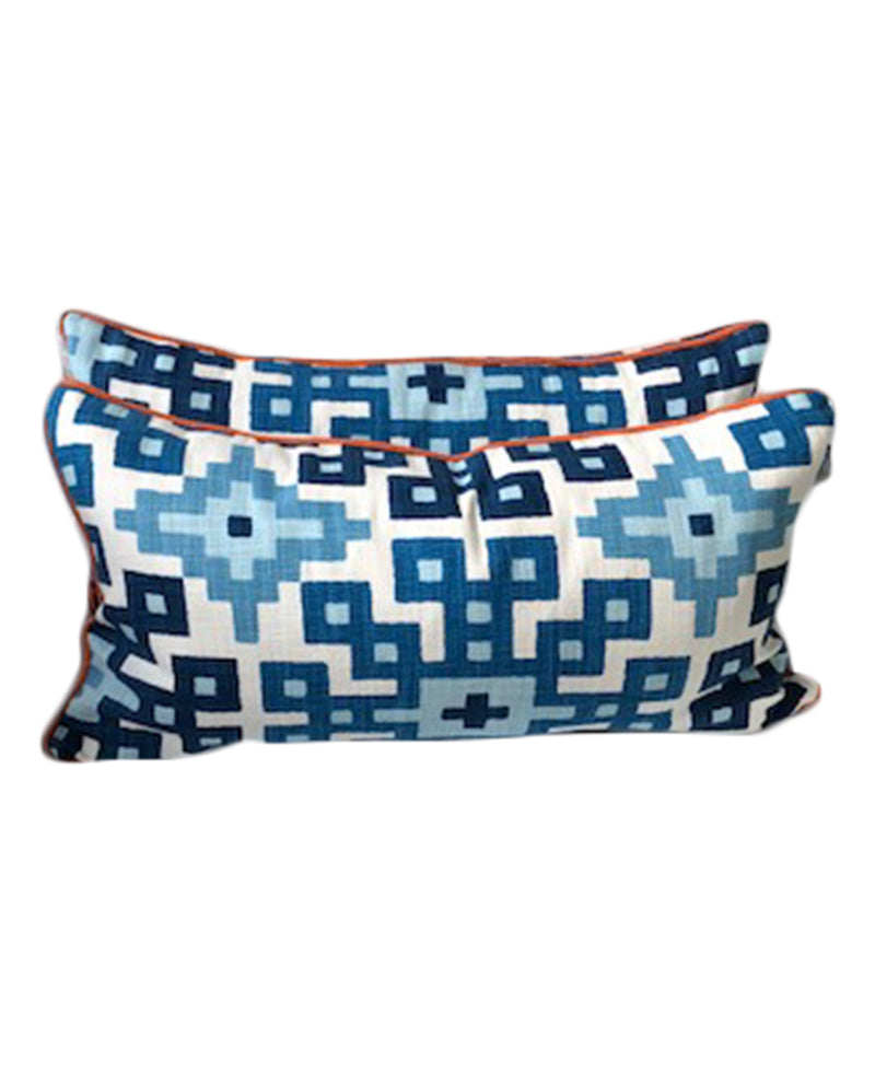 Jamil Leopard Fabric Lumbar Throw Pillow