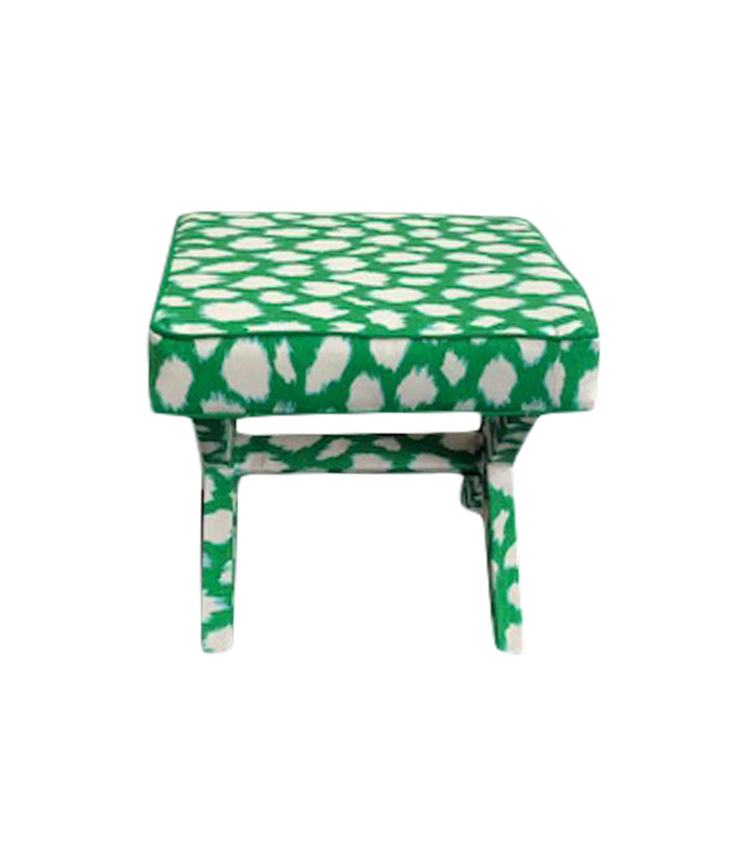X-Bench Kate Spade Leokat Picnic Green fabric, Kelly green bench by Lilly and Co.