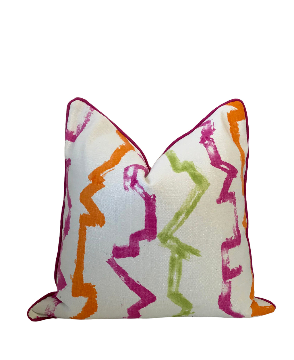 pink and orange stripe pillow. offered by Lilly and Co Palm Beach