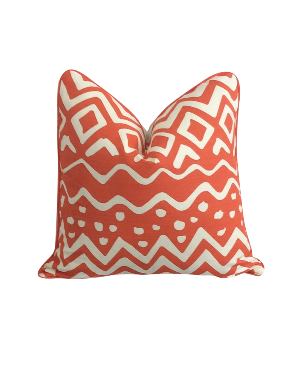 Quadrille China Seas Deauville Orange Designer Pillow Cover by Lilly and Co.