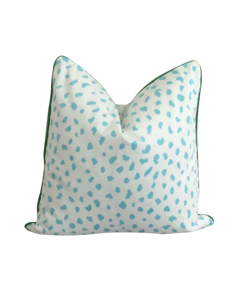 Katana Teal Fabric Pillow