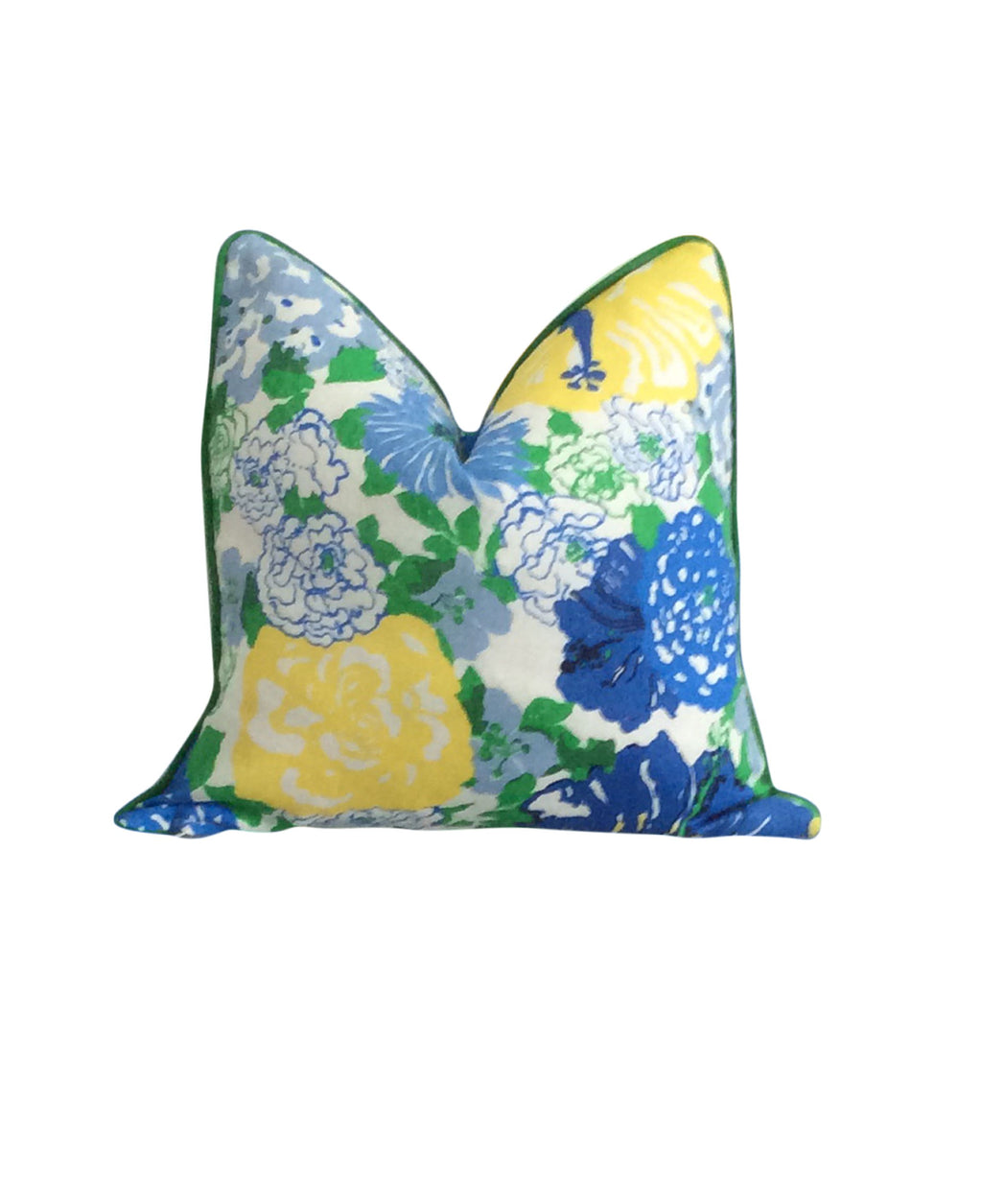 Lilly Pulitzer Heritage Floral Fabric Blue Pillow Cover by Lilly and Co.