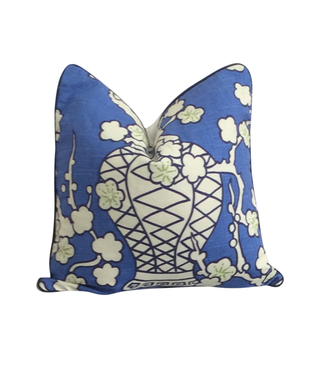 Blue Chinoiserie Ginger Jar Pillow Cover