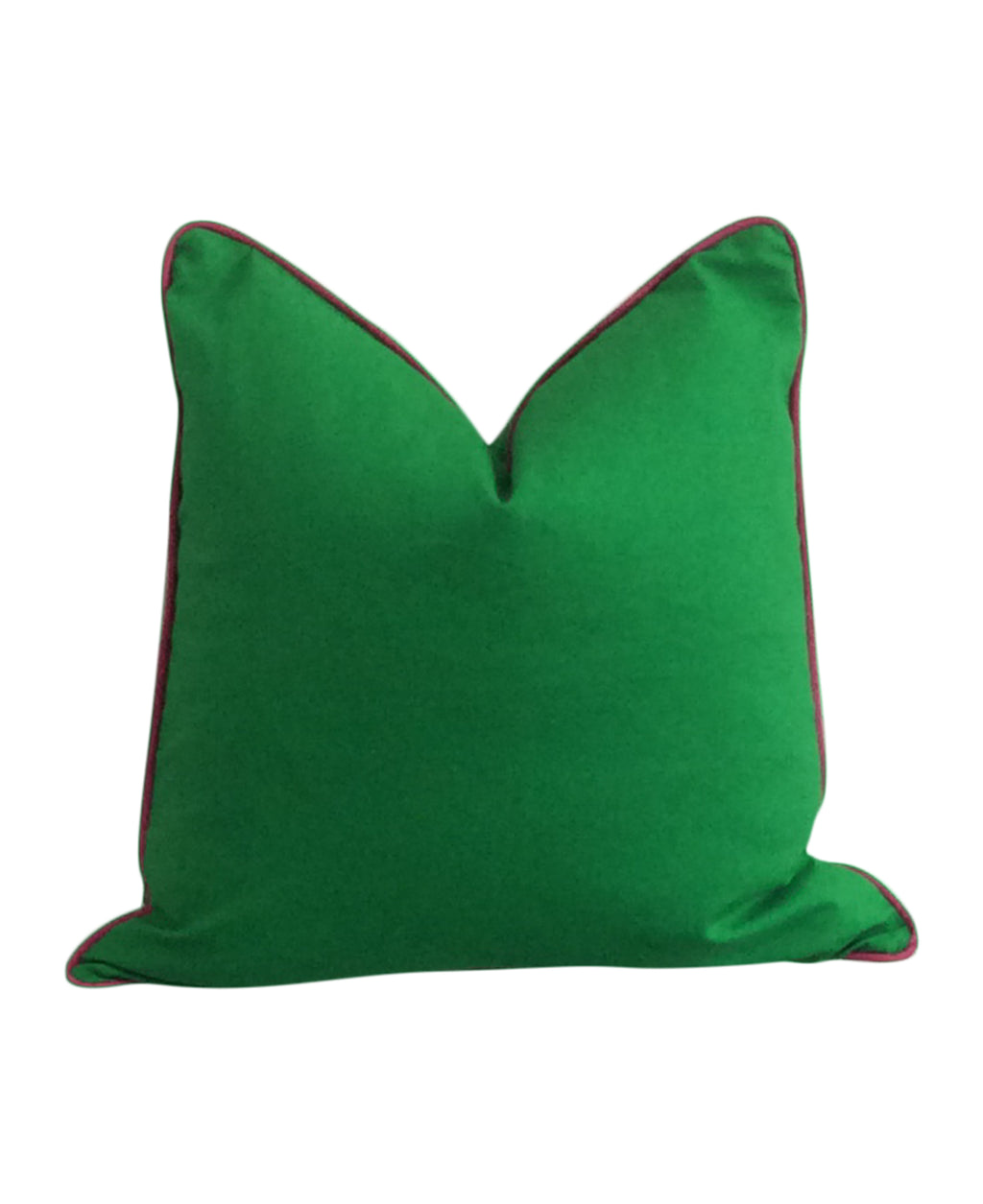 Kelly Green Fabric Pillow