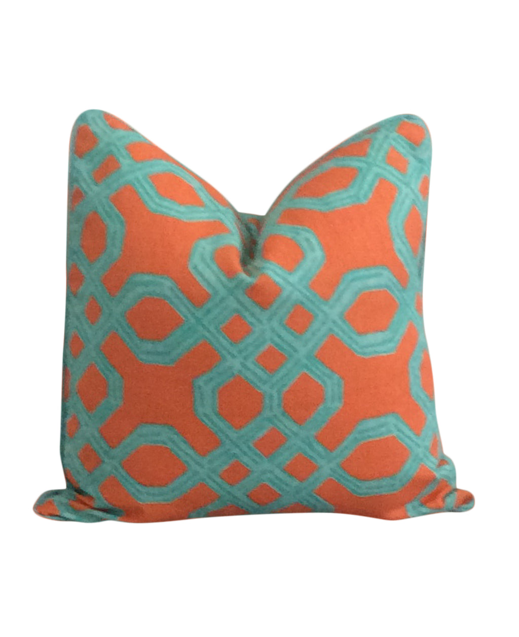 Lilly Pulitzer Well Connected Orange Fabric Pillow Cover