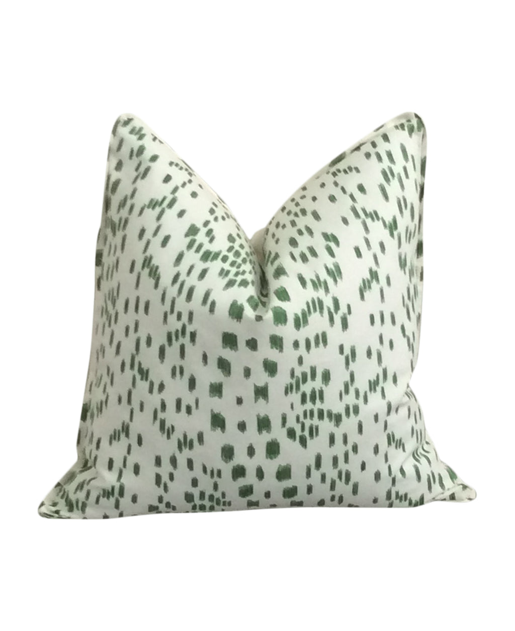 Les Touches Green Fabric Pillow