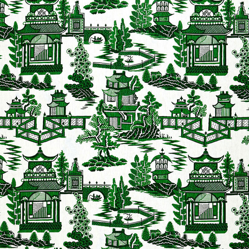 Schumacher Nanjing Jade Fabric offered by Lilly and Co.