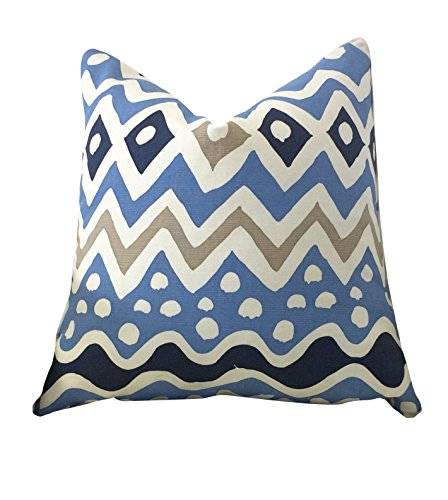 Quadrille-Alan Campbell Cap Ferrat Fabric Pillow - Blues