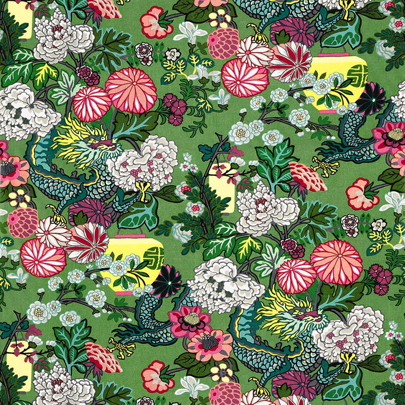 Schumacher Chiang Mai Dragon Jade Fabric