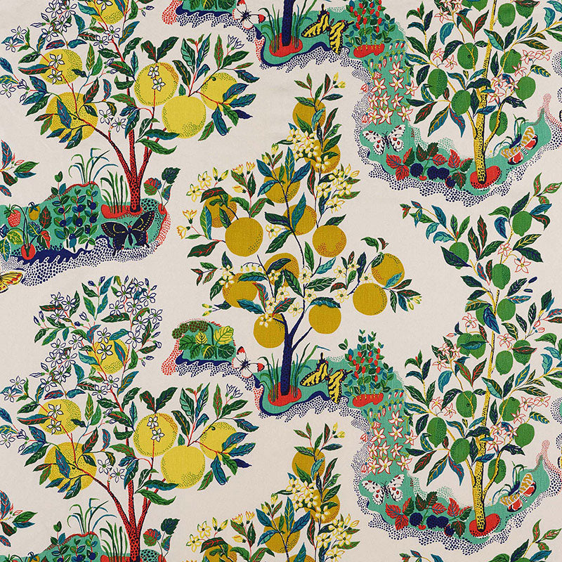 Schumacher Citrus Garden Primary Fabric Lilly and Co
