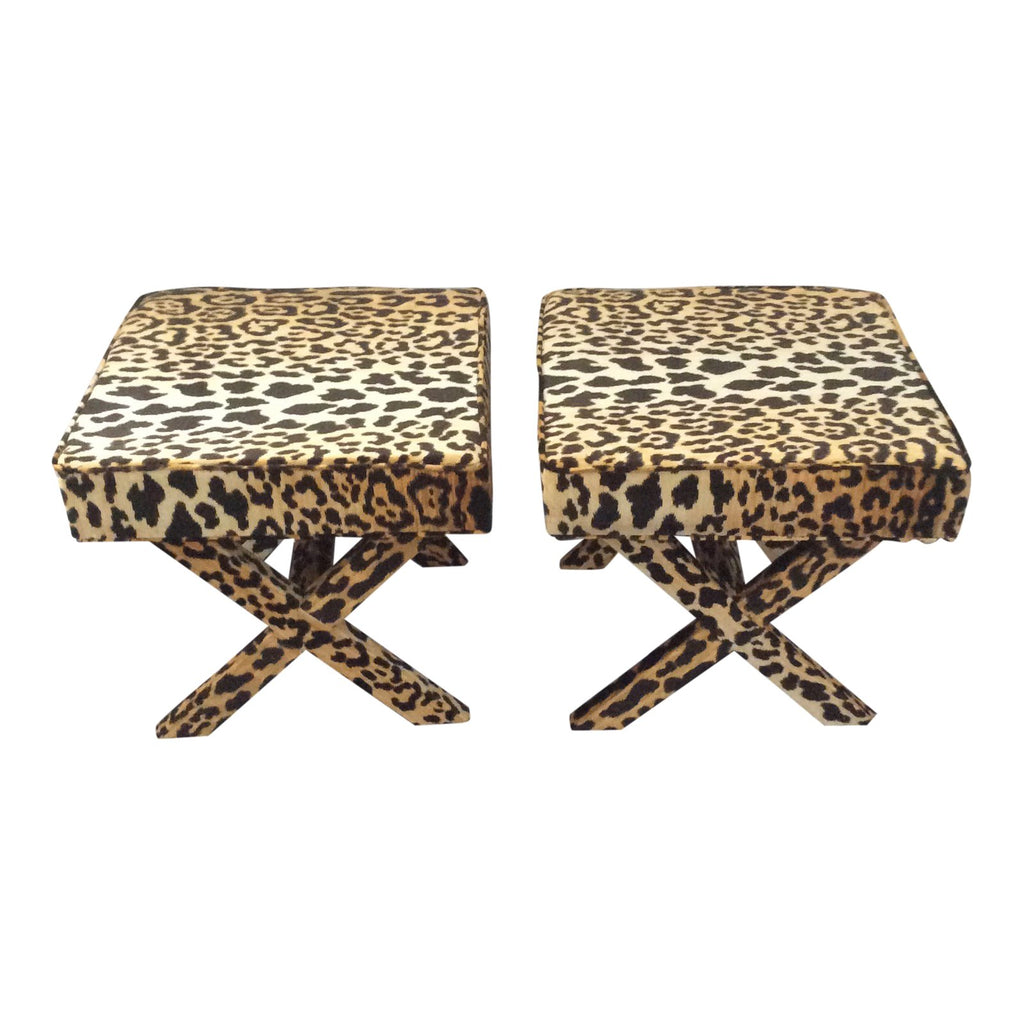 Jamil Leopard fabric x bench, leopard fabric x bench Lilly and Co