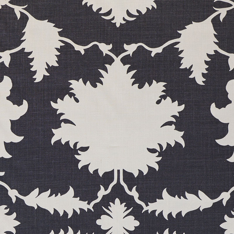 Schumacher Garden of Persia Black Fabric