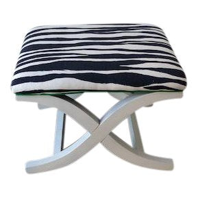 Kate Spade Mona Zebra Fabric X-Bench Lilly and Co.