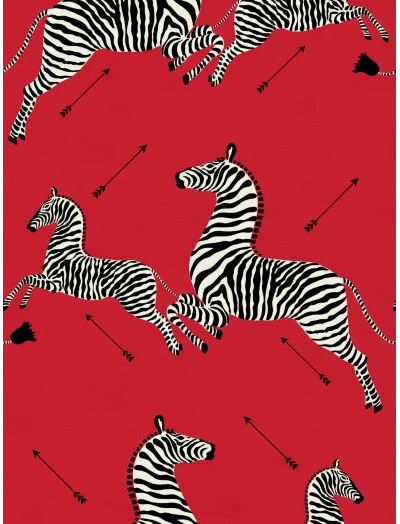 Scalamandre Zebra Masai Red Fabric