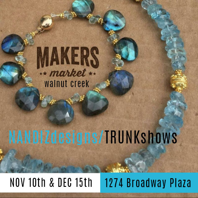 It's Trunk Show Season which means you get to see ALL my latest work in person!