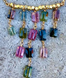 Tourmaline Cascade Necklace