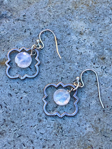 Moonstone Scroll Earring