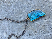 Load image into Gallery viewer, Labradorite Charm Necklace