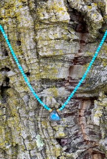 Labradorite trillion necklace