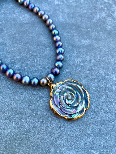 Abalone Rose Necklace