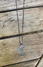Load image into Gallery viewer, Half moon Diamond Necklace