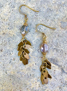 Bronze Leaf Earring