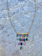 Load image into Gallery viewer, Tourmaline Cascade Necklace