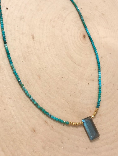 Turquoise Geometric Necklace