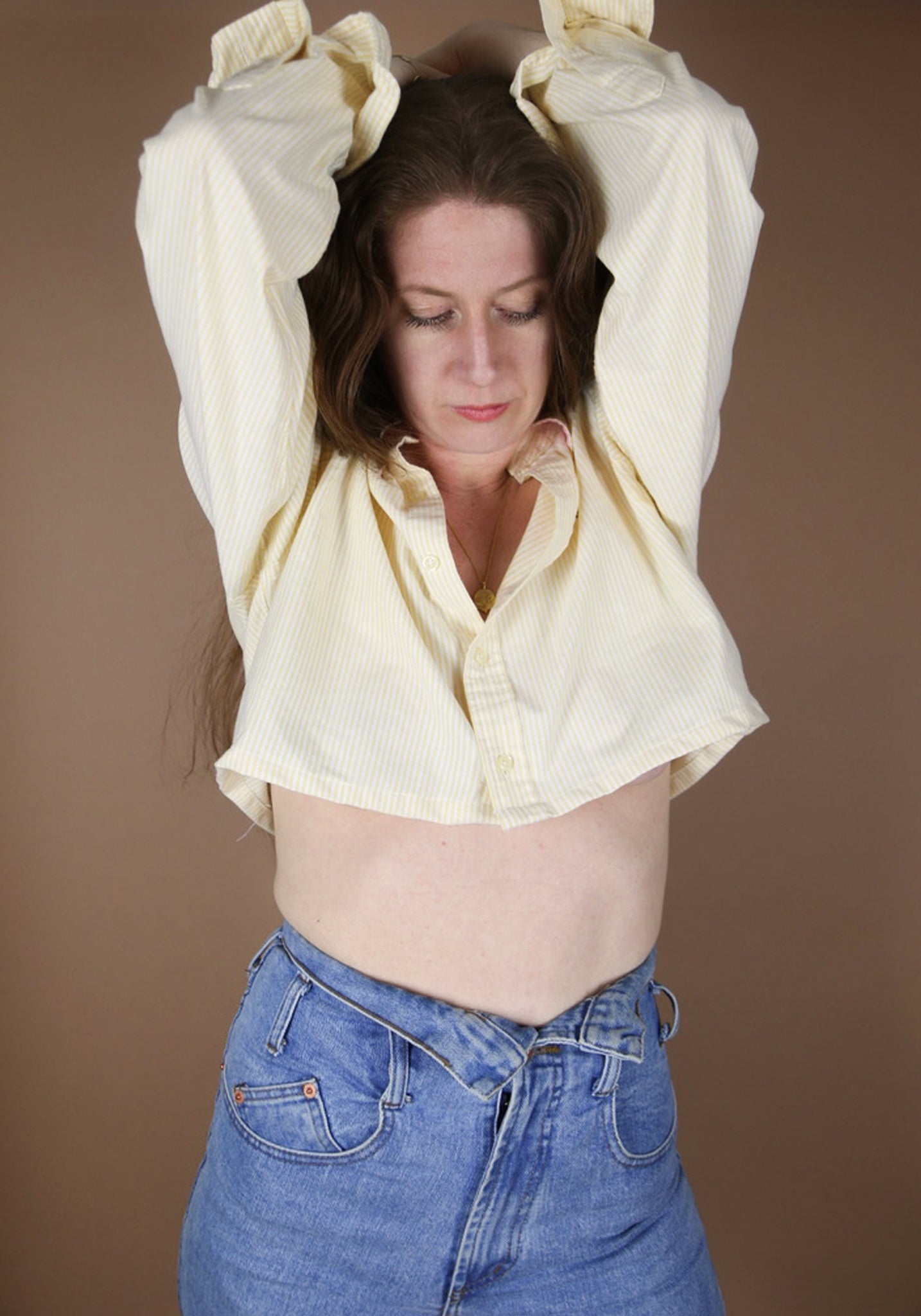 Upcycled 90s Ralph lauren Crop Shirt