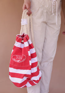 Striped Beach Bag / Backpack