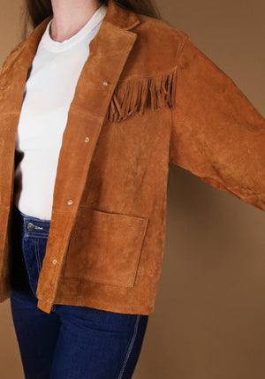 Suede Jacket with frings