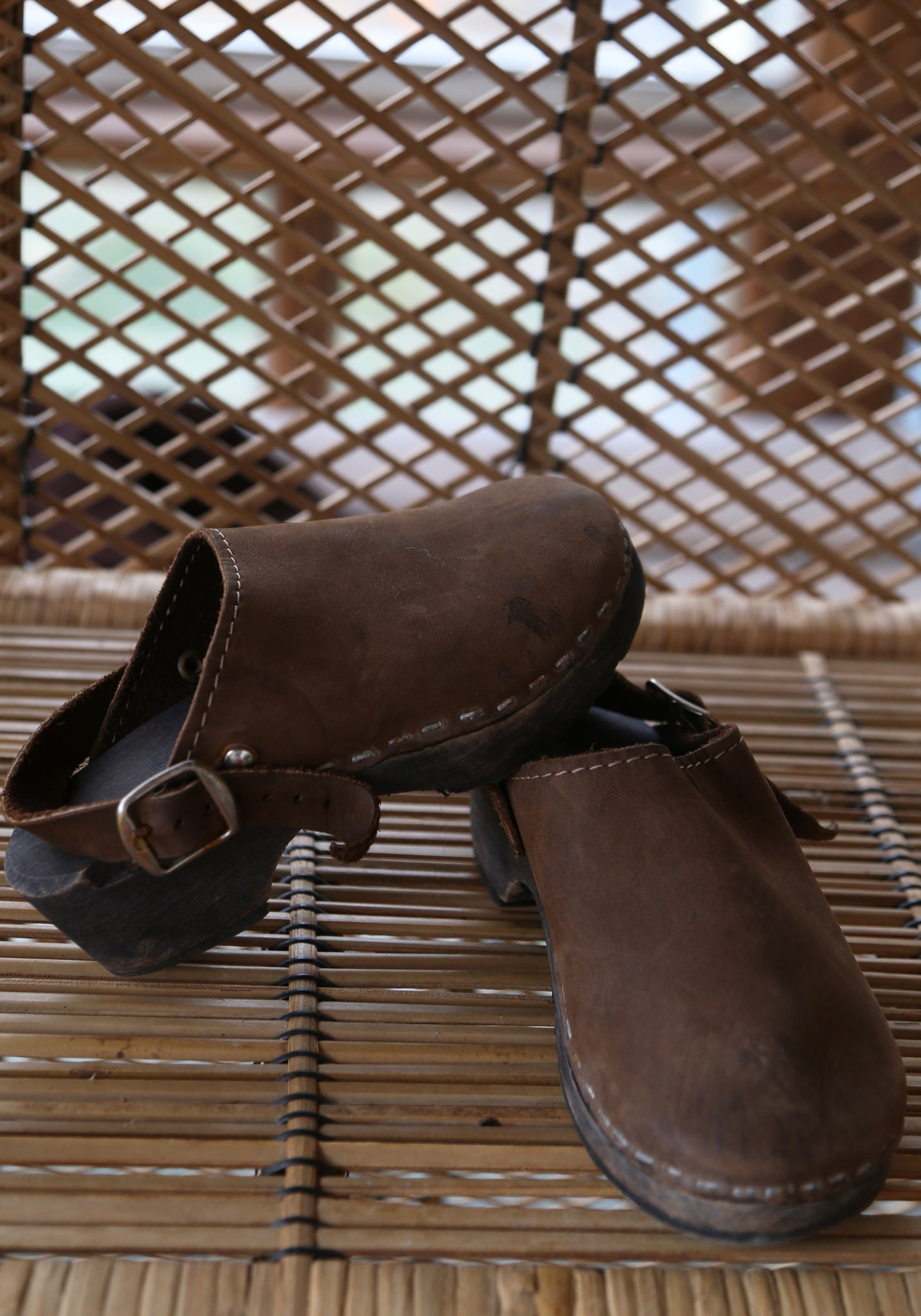 Holland Leather Clogs