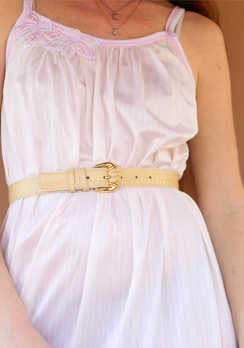 Creme Leather Belt