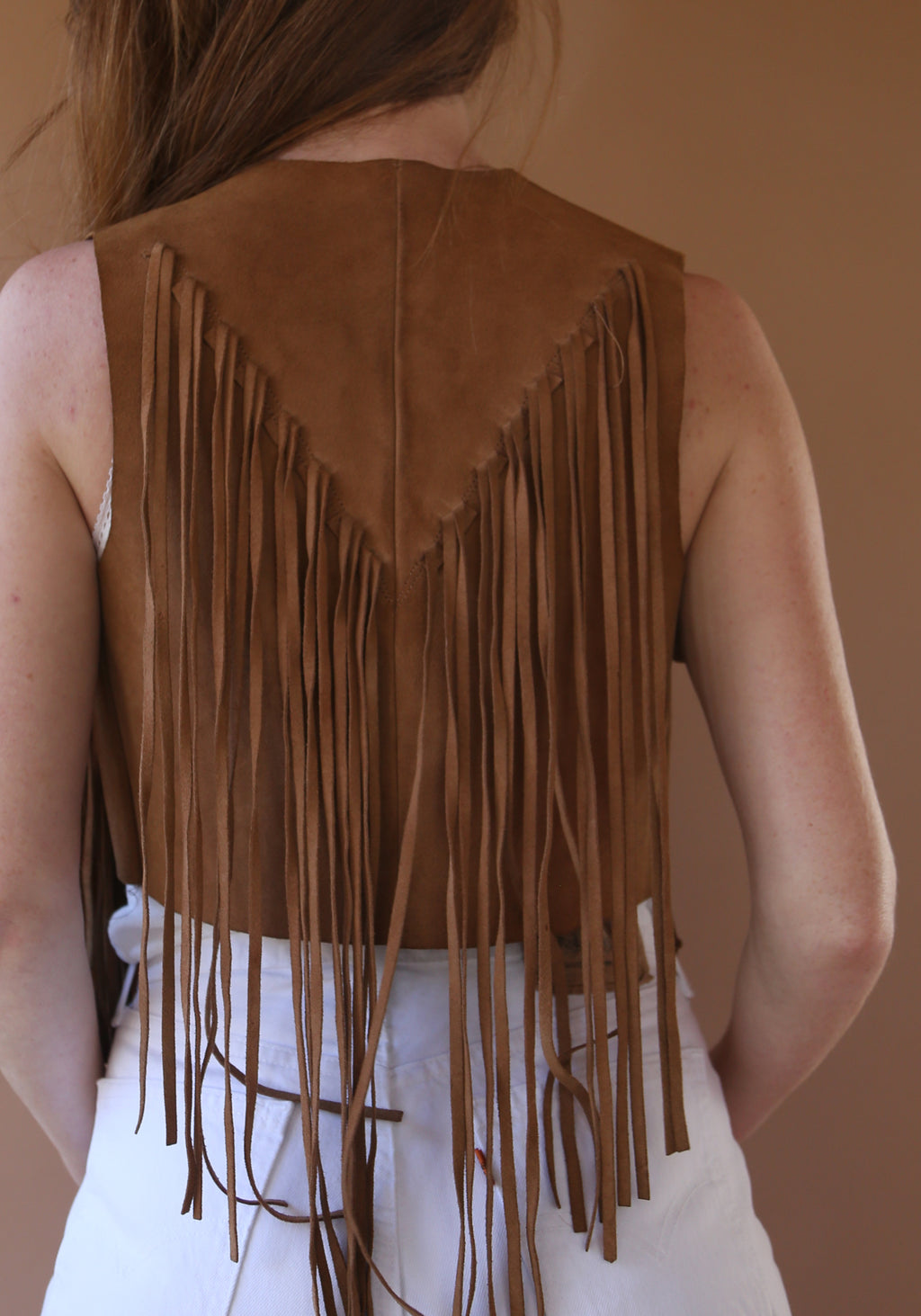 Boho Frings Leather Vest