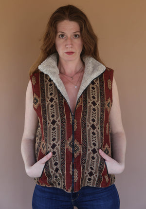 Aztec Vest with Fleece inside