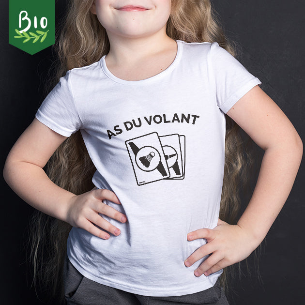 "T-shirt enfant badminton ""As du volant !"""