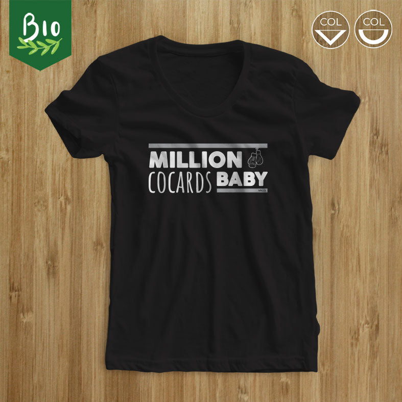 "T-shirt femme sports de combat ""Million cocards baby"""