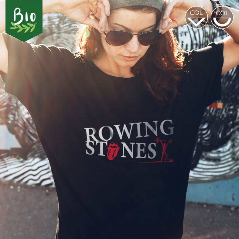 "T-shirt femme musculation ""Rowing Stones"""