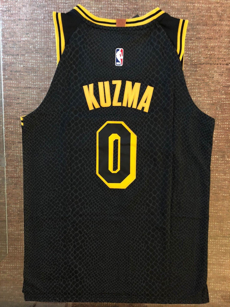 huge selection of 2acf5 51f6b Men 0 Kyle Kuzma Jersey City Edition Black Los Angeles Lakers Authentic  Player