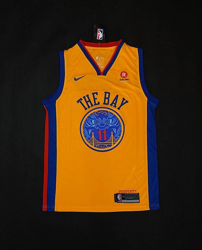 5c52df572 get men golden state warriors 11 klay thompson jersey yellow the bay 149eb  3ac9d