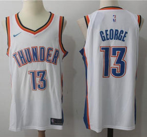 d31d057d9ffe ... ebay men okc 13 paul george jersey white oklahoma city thunder  authentic player bb1f0 265bf