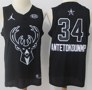 ba8182fe6 Men 2018 All Star 34 Giannis Antetokounmpo Milwaukee Bucks Jersey ...